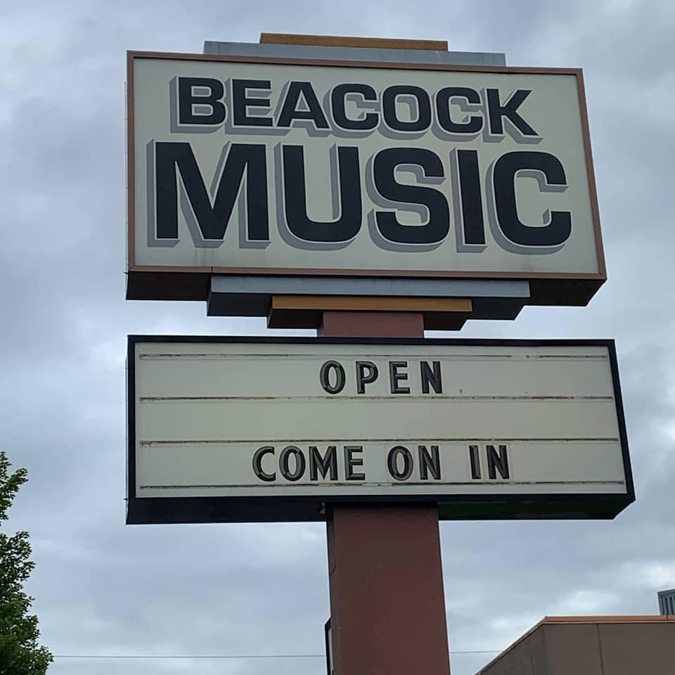 Beacock Music sign